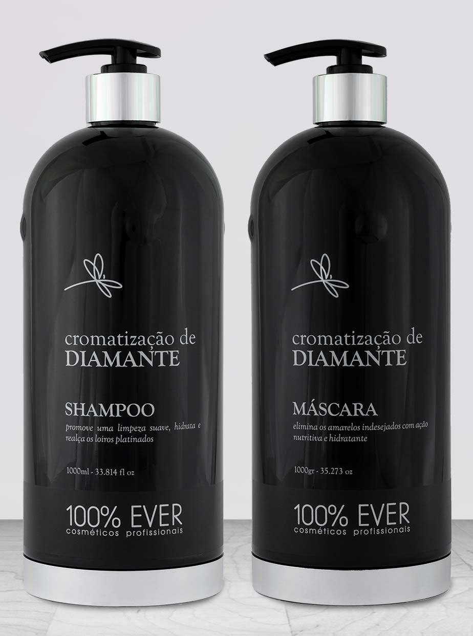 Kit Profissional - Cromatização de Diamante - 100 por Cento Ever - Cosméticos Profissionais - Empresa 100% Brasileira